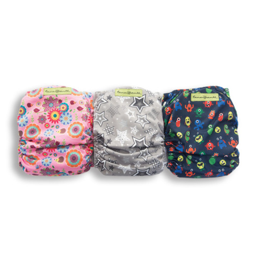 Designer Patterned Bamboo Nappy (with Microfibre Inserts)